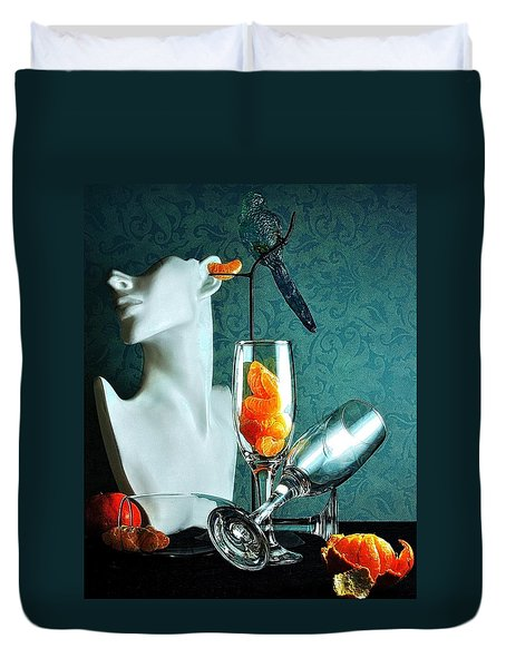 Duvet Cover featuring the photograph In Honor Of Karo by Elf Evans
