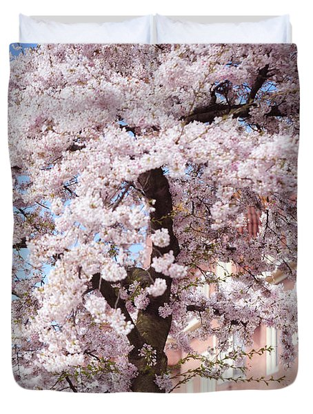 In Its Glory. Pink Spring In Amsterdam Duvet Cover