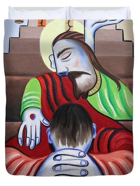 In Jesus Name Duvet Cover