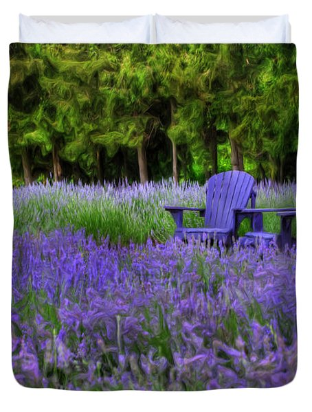 In Lavender Duvet Cover