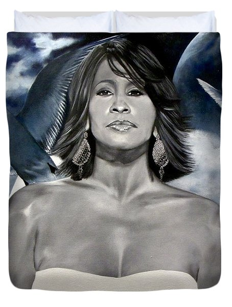 In Memory Of...whitney Houston Duvet Cover