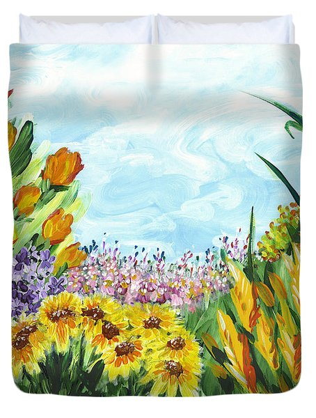 In My Garden Duvet Cover by Holly Carmichael