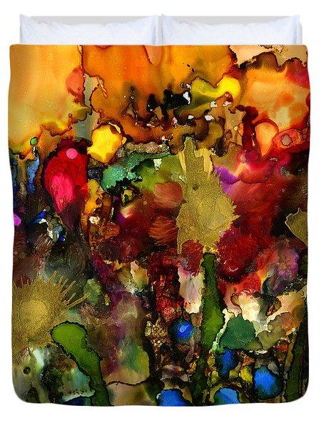 In My Sister's Garden Duvet Cover by Angela L Walker