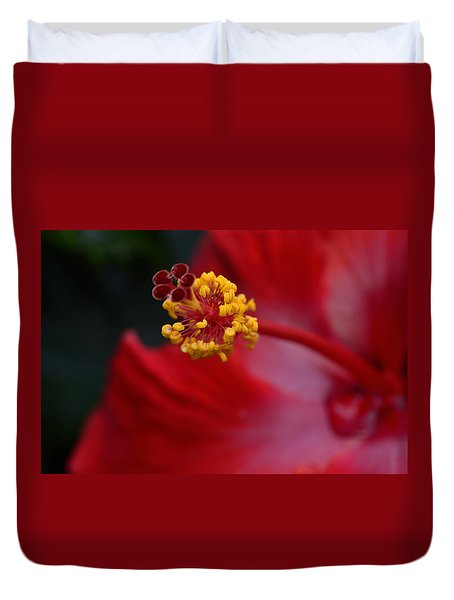 In Red Duvet Cover by Larry Bishop