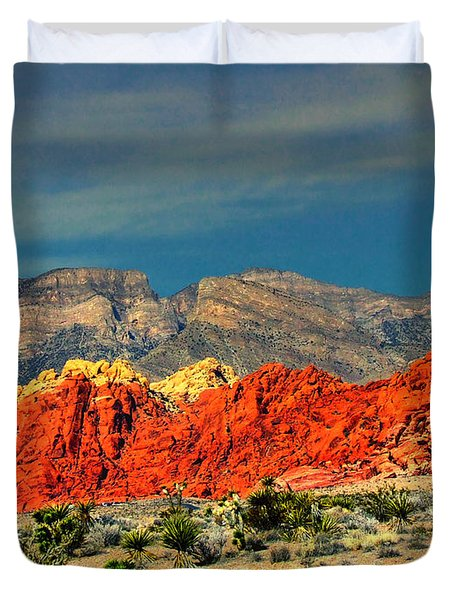 In Red Mountain 1 Duvet Cover
