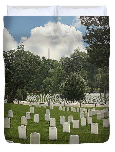In Rememberance-arlington Duvet Cover by Kim Hojnacki