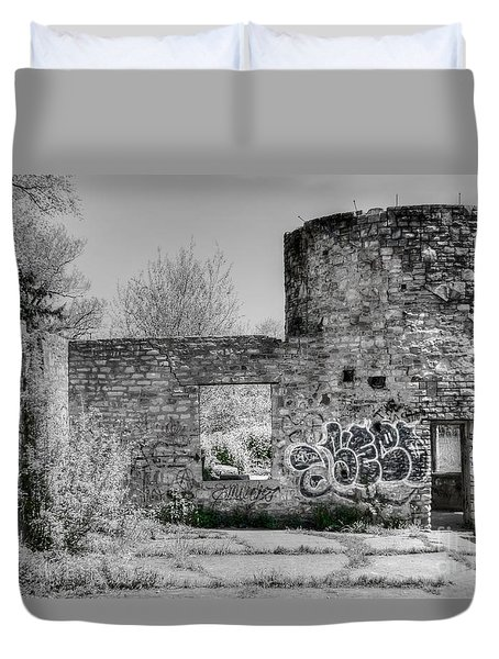 In Side The Boathouse Duvet Cover by Kathleen Struckle