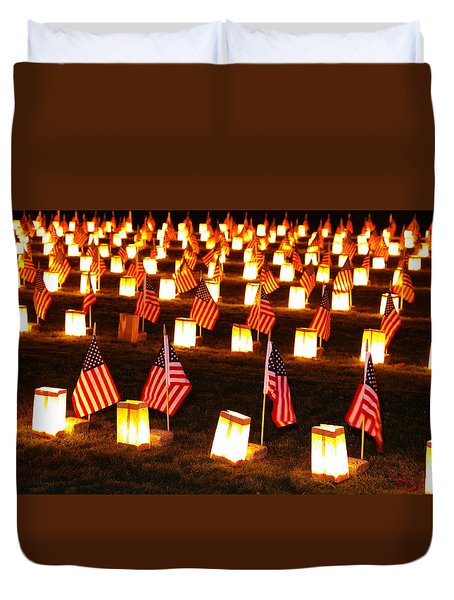 In Solemn Dedication - Gettysburg Illumination Remembrance Day 2012 - A Duvet Cover by Michael Mazaika