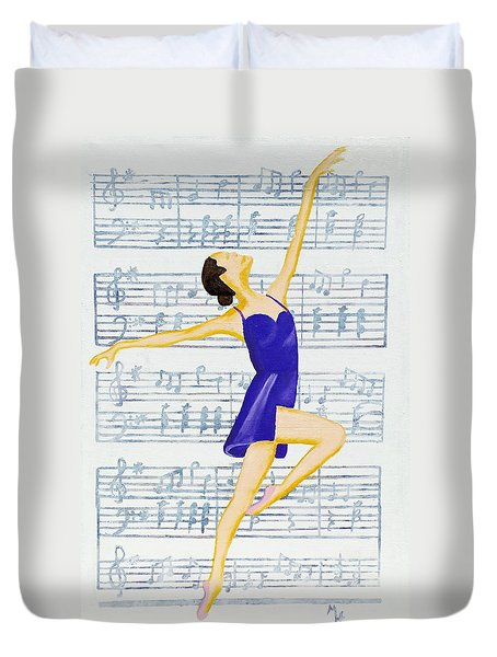 In Sync With The Music Duvet Cover