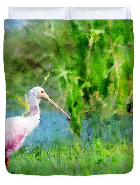 Duvet Cover featuring the photograph In The Bayou #1 by Betty LaRue