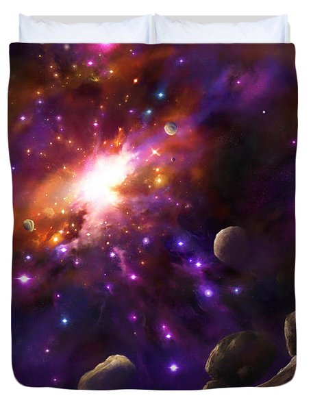 In The Beginning... Duvet Cover by Tamer and Cindy Elsharouni
