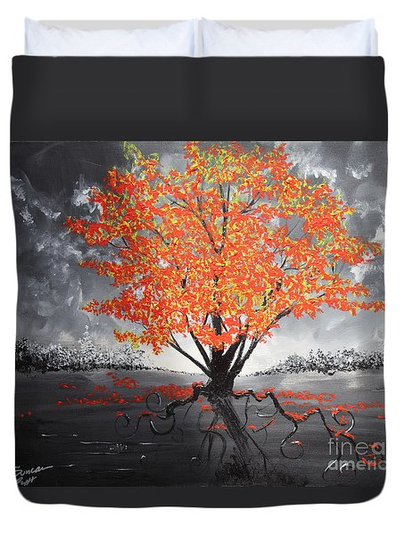 Blaze In The Twilight Duvet Cover