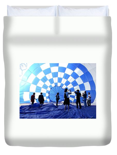 Duvet Cover featuring the photograph In The Blue by Christopher McKenzie