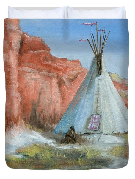 In The Canyon Duvet Cover by Jerry McElroy