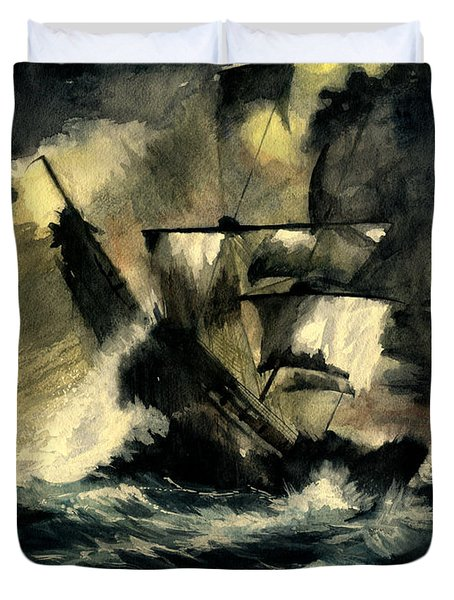 In The Dark Duvet Cover by Melly Terpening