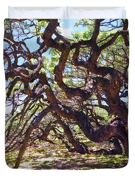 In The Depth Of Enchanting Forest Vii Duvet Cover by Jenny Rainbow