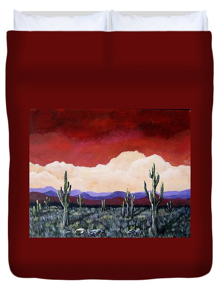 In The Distance Duvet Cover by Suzanne Theis