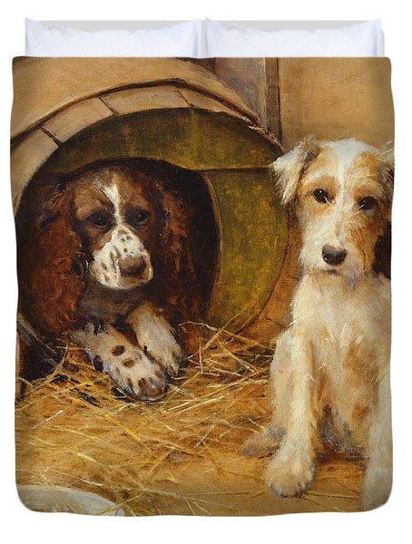 In The Dog House Duvet Cover by Samuel Fulton