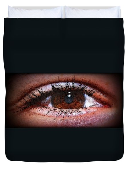 In The Eye Of The Beholder... Duvet Cover by Tammy Schneider