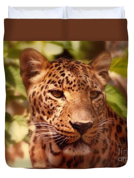 Duvet Cover featuring the photograph New Orleans In The Eyes Of The Leopard by Michael Hoard