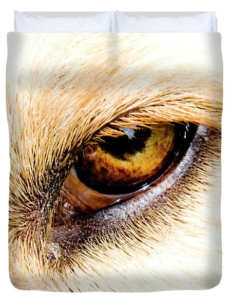Duvet Cover featuring the photograph In The Eyes.... by Rod Wiens