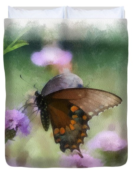 In The Flowers Duvet Cover by Kerri Farley