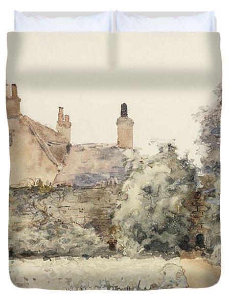 In The Garden Duvet Cover by Childe Hassam