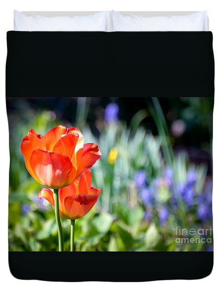In The Garden Duvet Cover by Kerri Farley