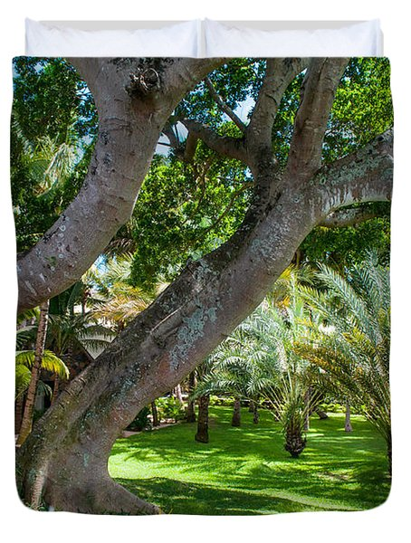 In The Garden. Mauritius Duvet Cover by Jenny Rainbow