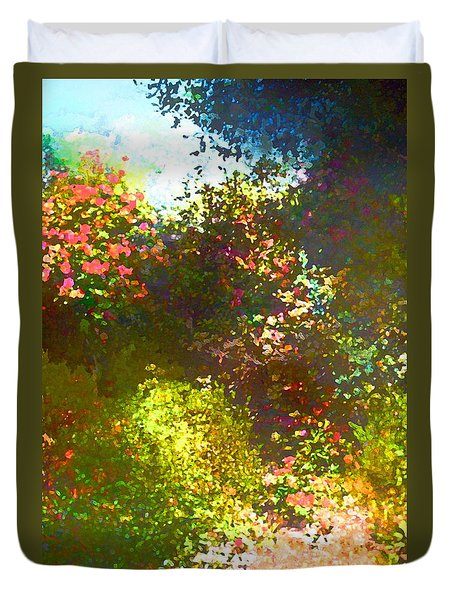 Duvet Cover featuring the photograph In The Garden by Pamela Cooper
