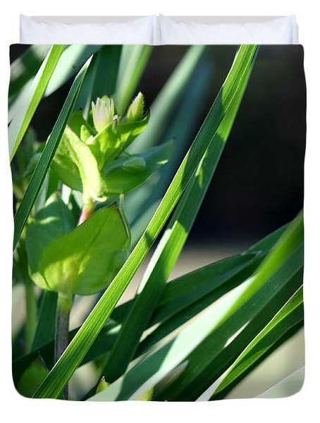Duvet Cover featuring the photograph In The Grass by Todd Blanchard