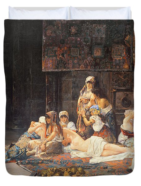 In The Harem Duvet Cover