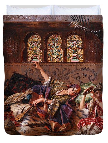 In The Harem Duvet Cover by Rudolphe Ernst