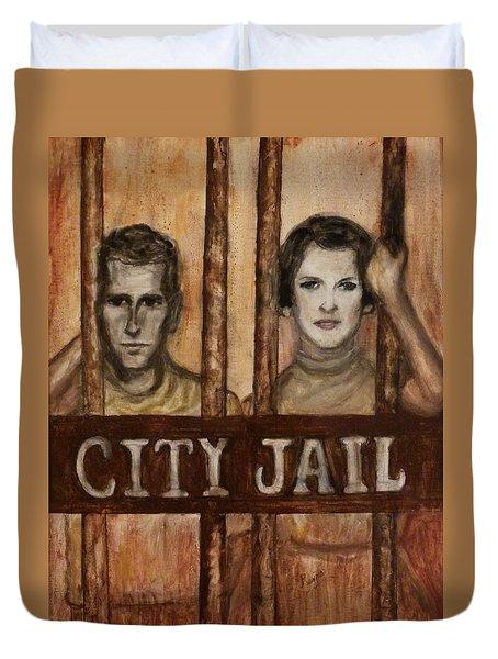 In The Jailhouse Now Duvet Cover by Regina Brandt