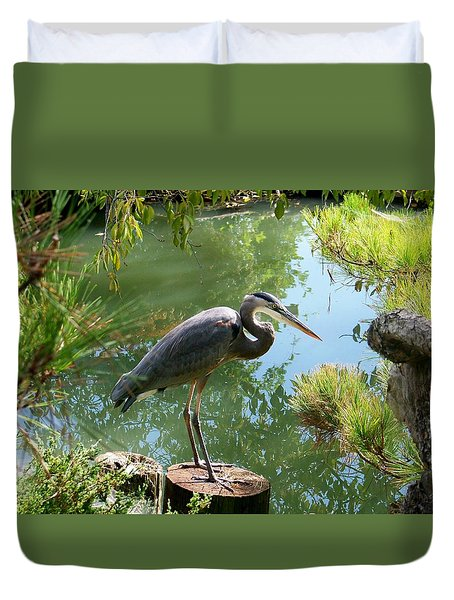 In The Japanese Gardens Duvet Cover by Julie Grace