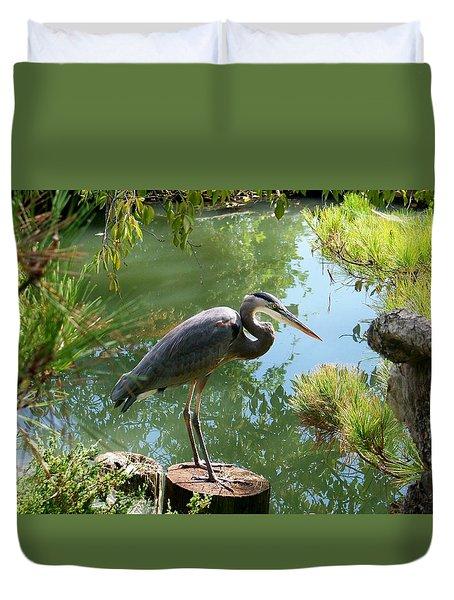 In The Japanese Gardens Duvet Cover