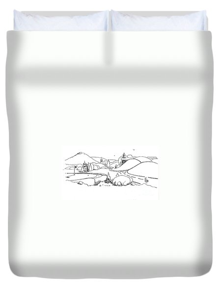 In The Land Of Brigadoon  Duvet Cover