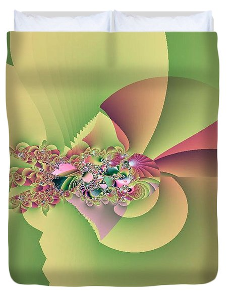 In The Land Of Fairies Duvet Cover by Maria Urso