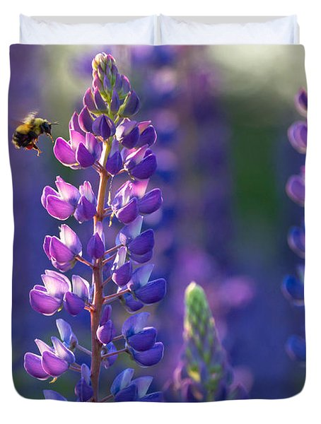 In The Land Of Lupine Duvet Cover