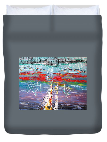 In The Lead - Sold Duvet Cover