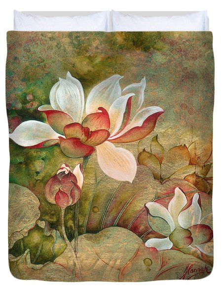 In The Lotus Land Duvet Cover