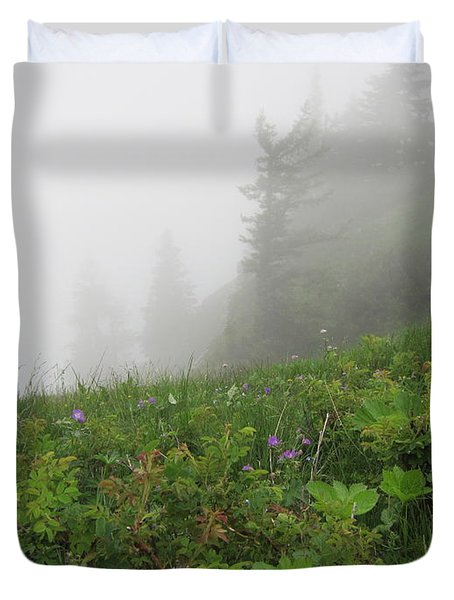 Duvet Cover featuring the photograph In The Mist - 1 by Pema Hou