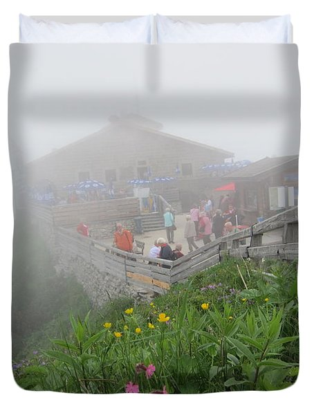 Duvet Cover featuring the photograph In The Mist by Pema Hou