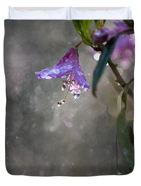 In The Morning Rain Duvet Cover