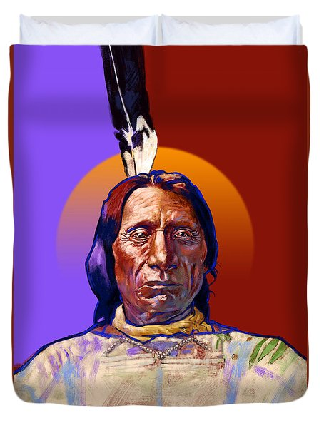 In The Name Of The Great Spirit Duvet Cover
