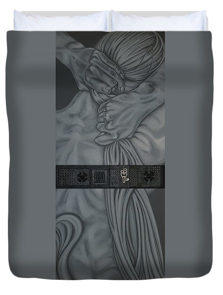 Two Halfs Of Us Duvet Cover