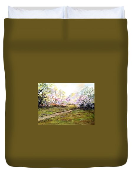 In The Park Duvet Cover by Dorothy Maier