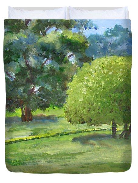 In The Park Duvet Cover
