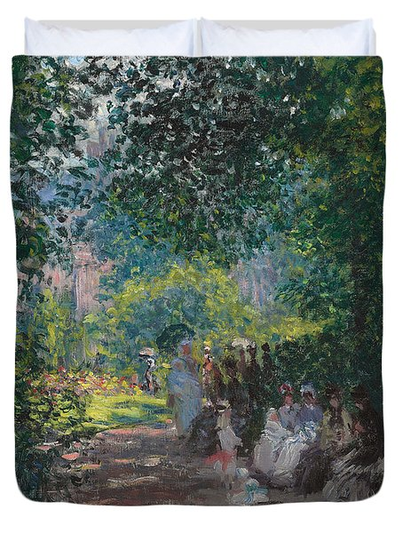 In The Park Monceau Duvet Cover by Cluade Monet
