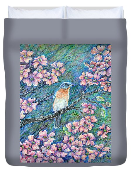 In The Pink Duvet Cover by Gail Butler